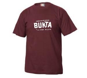 Bilde av T-skjorte: burgunder - Bukta